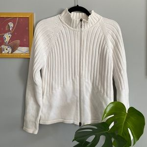 Lole White Zipper Sweater